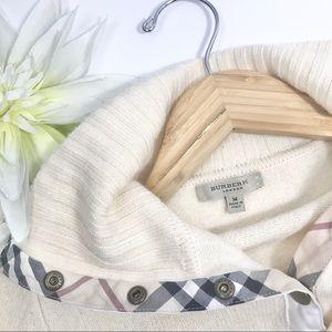 Burberry London cream Snap Placket Turtleneck Knit